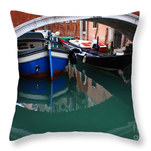 Venice Reflections 2 Throw Pillow by Bob Christopher