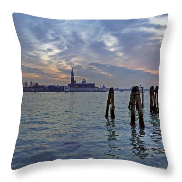 Venice San Giorgio Maggiore Throw Pillow by Joana Kruse