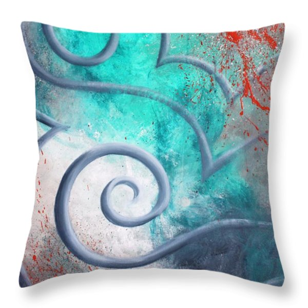 Venus Sky Throw Pillow by Reina Cottier
