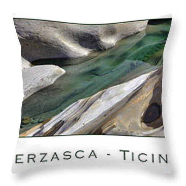Verzasca Stones Throw Pillow by Joana Kruse