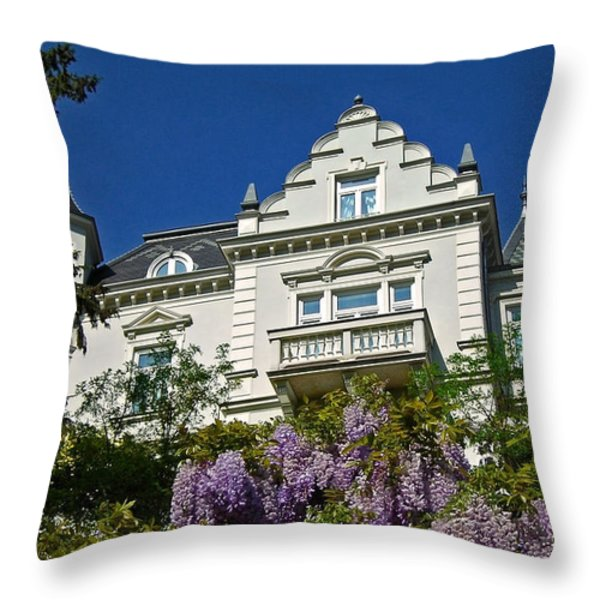 Via Giardini ... Throw Pillow by Juergen Weiss