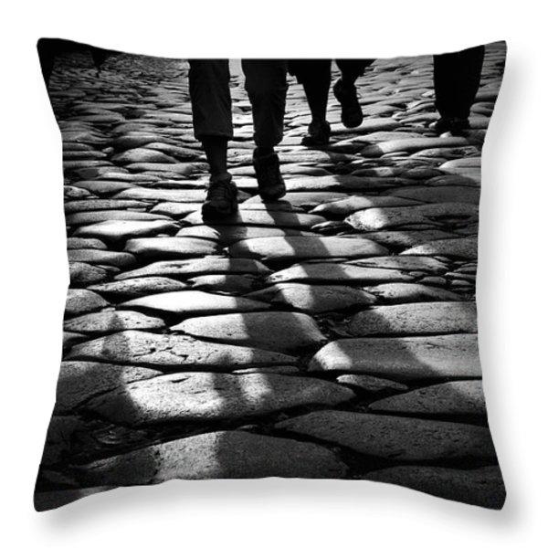 Via Sacra Throw Pillow by Fabrizio Troiani