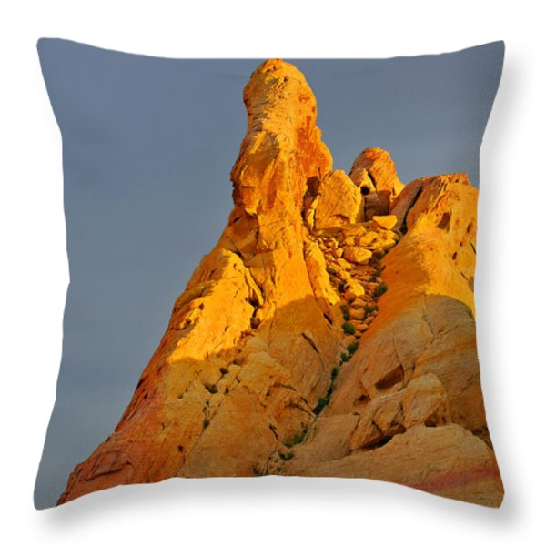 Vibrant Valley Of Fire Throw Pillow by Christine Till