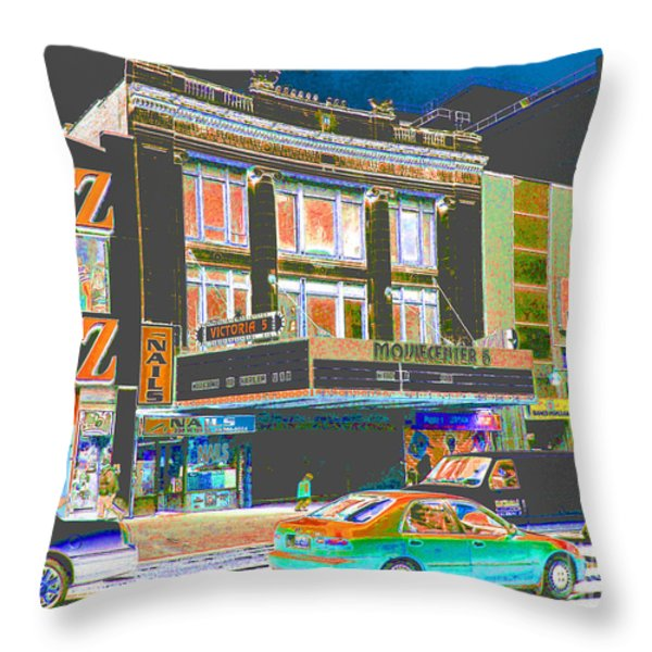 Victoria Theater 125th St Nyc Throw Pillow by Steven Huszar