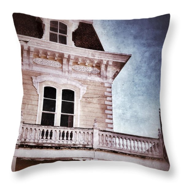 Victorian House Throw Pillow by Jill Battaglia