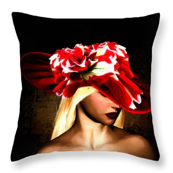 Victorian Times Throw Pillow by Lourry Legarde