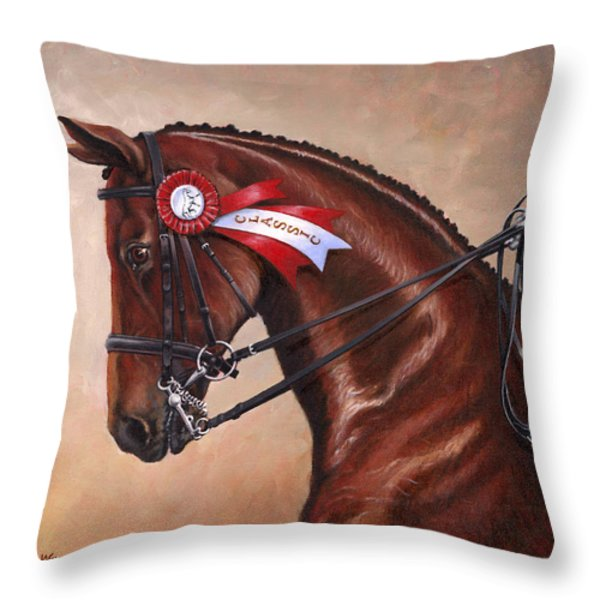 Victorious Throw Pillow by Richard De Wolfe