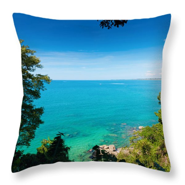 view from khao-lak Throw Pillow by ATIKETTA SANGASAENG