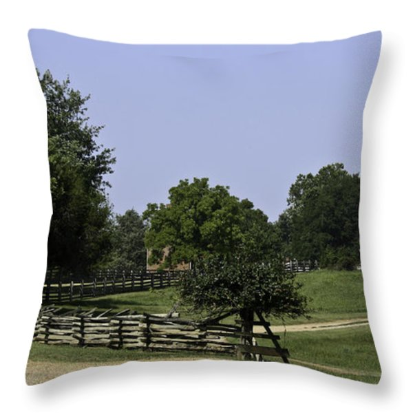 View of Appomattox Courthouse 2 Throw Pillow by Teresa Mucha