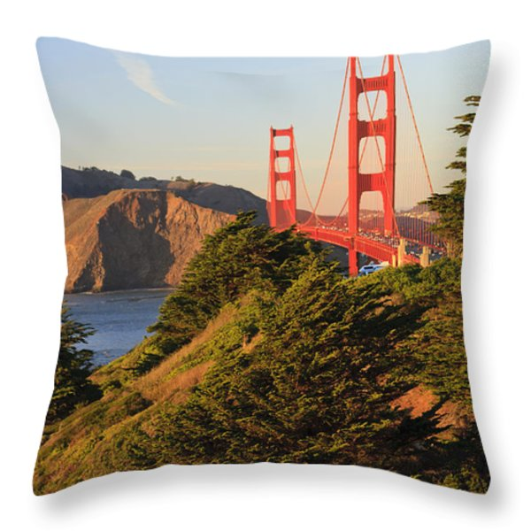 View Of Golden Gate Bridge San Throw Pillow by Stuart Westmorland