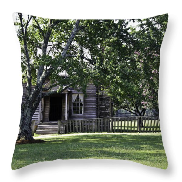 View of Jones Law Offices Appomattox Virginia Throw Pillow by Teresa Mucha