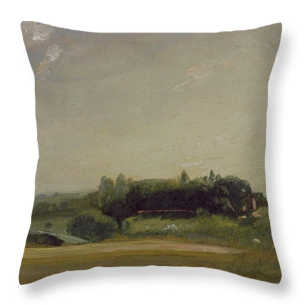 View Towards The Rectory - East Bergholt Throw Pillow by John Constable