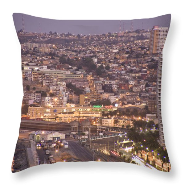 Views From Paseo Atkinson, On Cerro Throw Pillow by Richard Nowitz