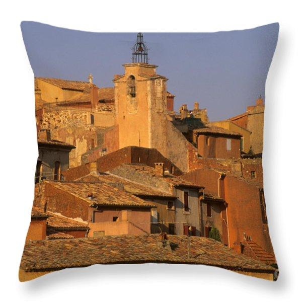 Village de Roussillon. Luberon Throw Pillow by BERNARD JAUBERT