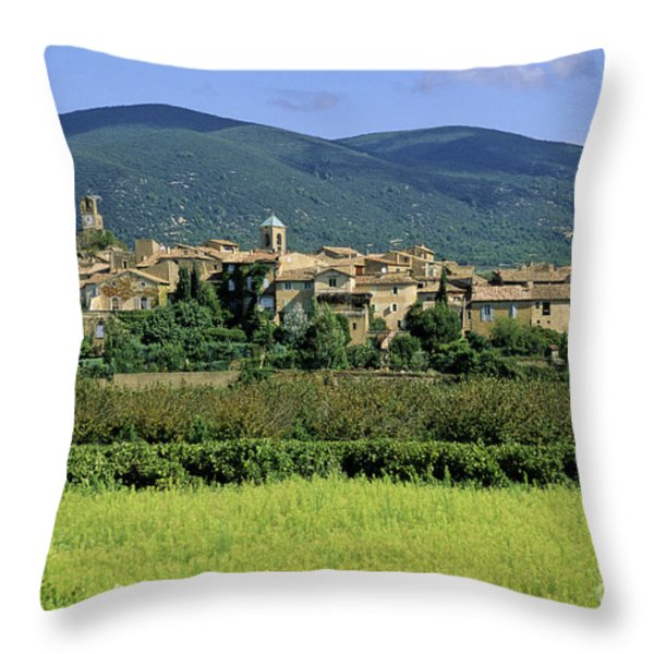 Village of Lourmarin. Luberon. Vaucluse Throw Pillow by BERNARD JAUBERT