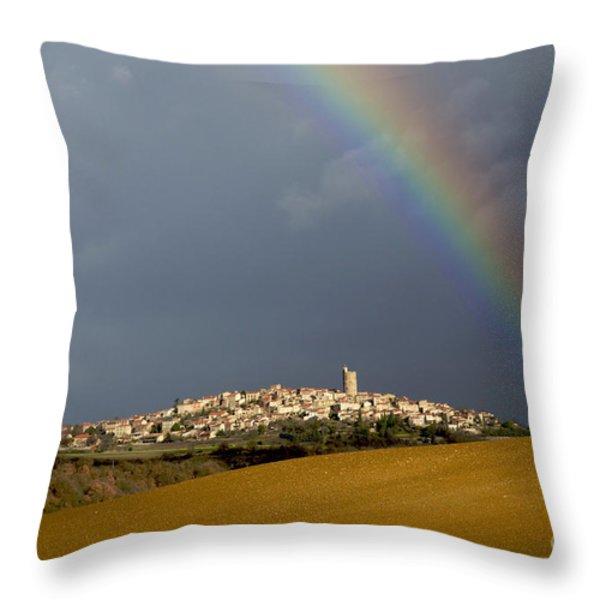 Village of Montpeyroux. Auvergne. France Throw Pillow by BERNARD JAUBERT