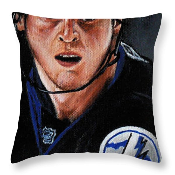 Vinny Lecavalier Throw Pillow by Marlon Huynh