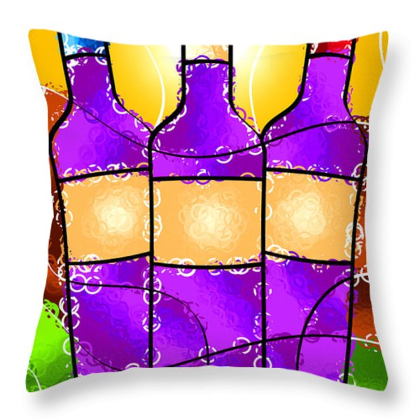 Vino Throw Pillow by Stephen Younts