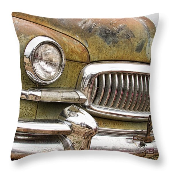 Vintage 1951 Nash Ambassador Front End 2 Throw Pillow by James BO  Insogna