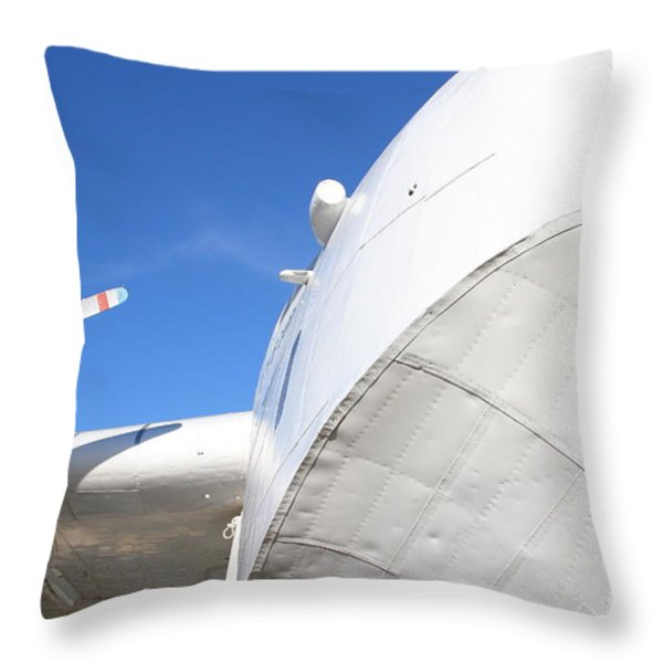 Vintage Boac British Overseas Airways Corporation Speedbird Flying Boat . 7d11259 Throw Pillow by Wingsdomain Art and Photography