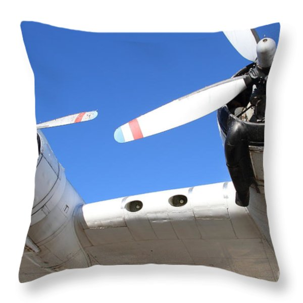 Vintage BOAC British Overseas Airways Corporation Speedbird Flying Boat . 7D11260 Throw Pillow by Wingsdomain Art and Photography
