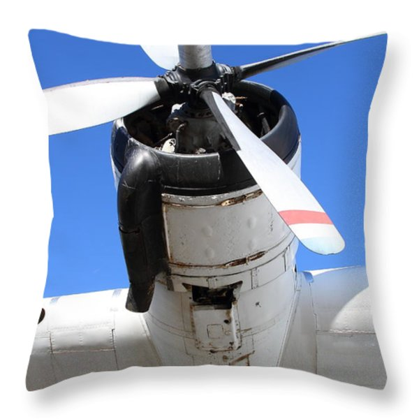Vintage Boac British Overseas Airways Corporation Speedbird Flying Boat . 7d11261 Throw Pillow by Wingsdomain Art and Photography
