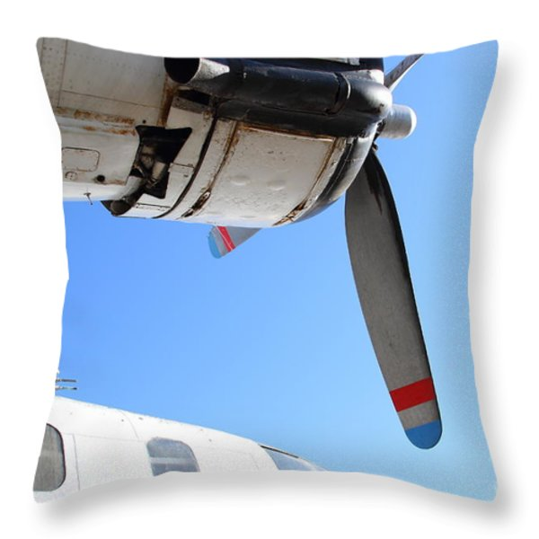 Vintage BOAC British Overseas Airways Corporation Speedbird Flying Boat . 7D11270 Throw Pillow by Wingsdomain Art and Photography