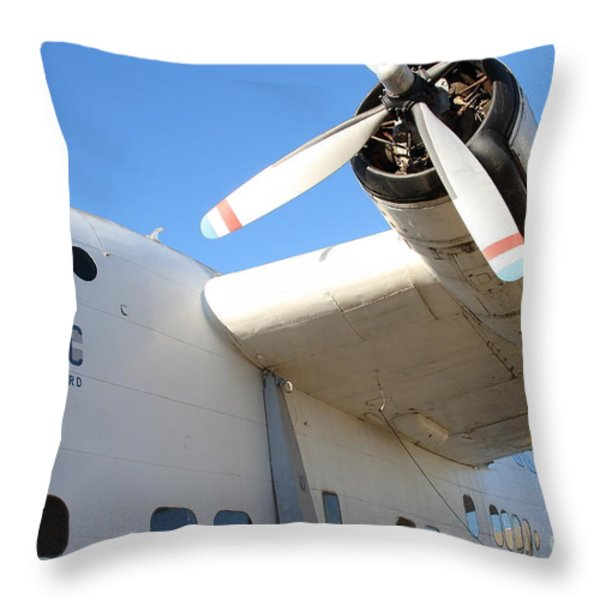 Vintage Boac British Overseas Airways Corporation Speedbird Flying Boat . 7d11279 Throw Pillow by Wingsdomain Art and Photography