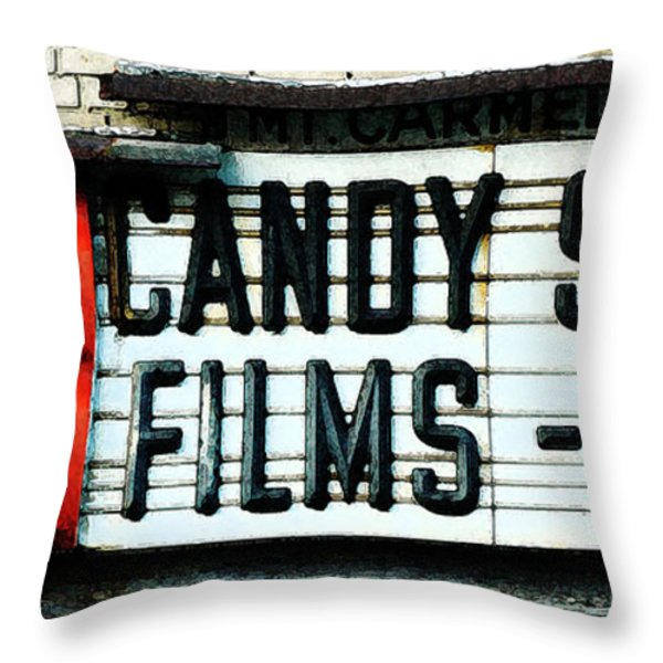 Vintage Candy Store Throw Pillow by AdSpice Studios
