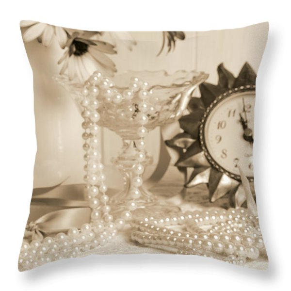 Vintage Dressing Table Throw Pillow by Amanda And Christopher Elwell