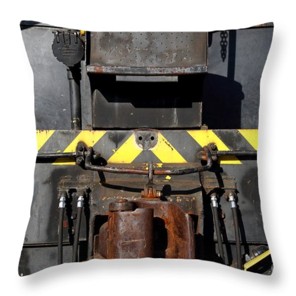 Vintage Railroad Train . 7d11601 Throw Pillow by Wingsdomain Art and Photography