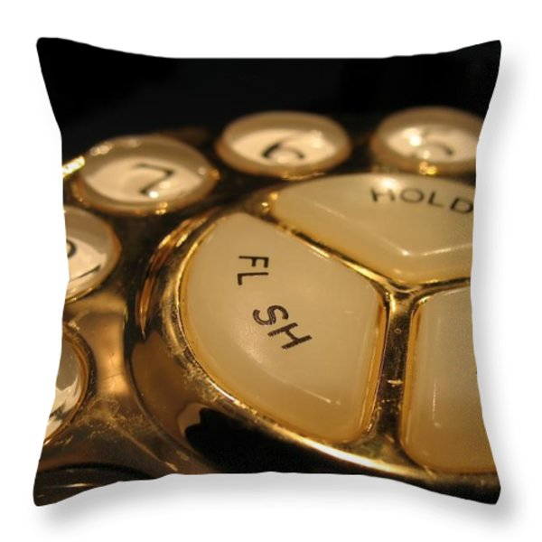 Vintage Rotary Dial Phone Throw Pillow by Yali Shi