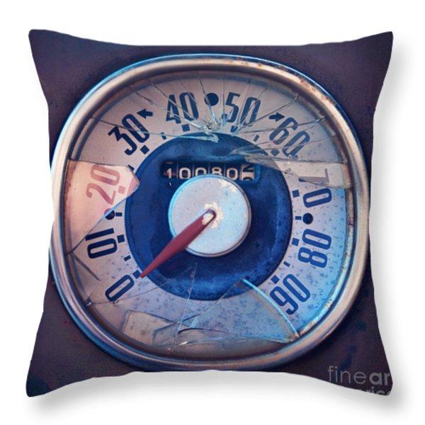 Vintage Speed Indicator Throw Pillow by Priska Wettstein