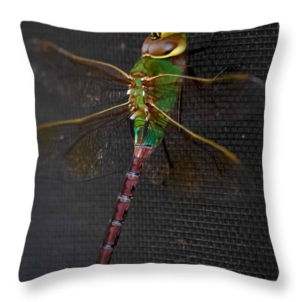 Violet Tail Damsel Throw Pillow by DigiArt Diaries by Vicky B Fuller