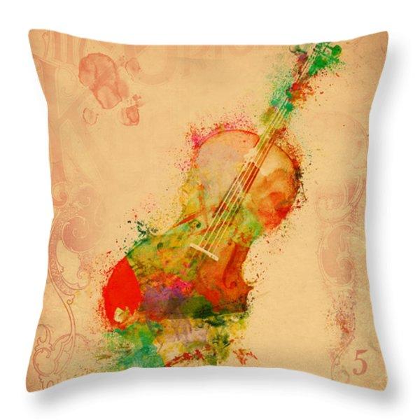Violin Dreams Throw Pillow by Nikki Marie Smith