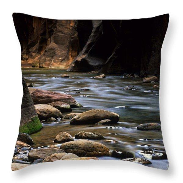 Virgin River Light Throw Pillow by Bob Christopher
