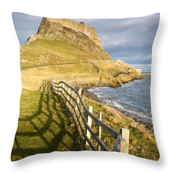 Volcanic Mound Called Beblowe Craig Throw Pillow by John Short