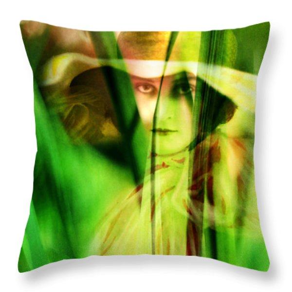 Voyeur Throw Pillow by Rebecca Sherman