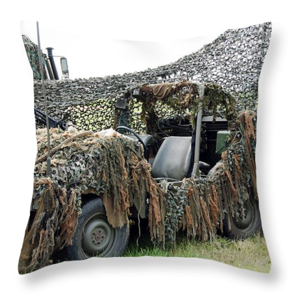 Vw Iltis Of The Special Forces Group Throw Pillow by Luc De Jaeger