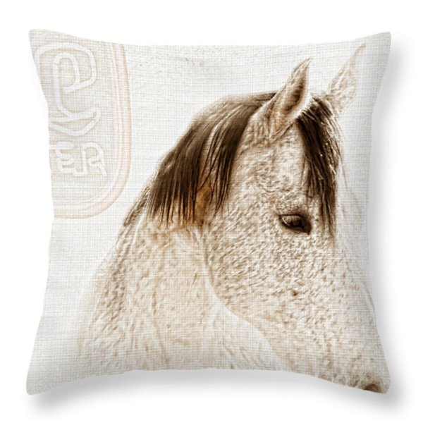 Waiting For A Beer Throw Pillow by Betty LaRue