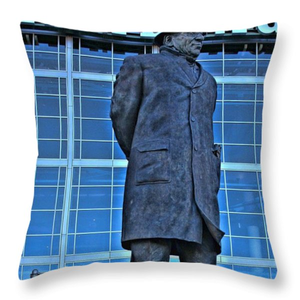 Waiting For Victory Throw Pillow by Tommy Anderson