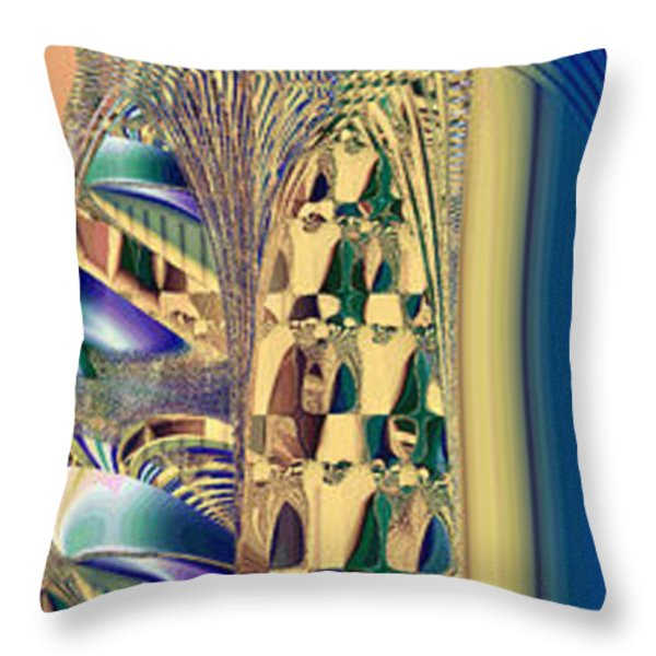 Waiting In The Sand Throw Pillow by Betsy A  Cutler