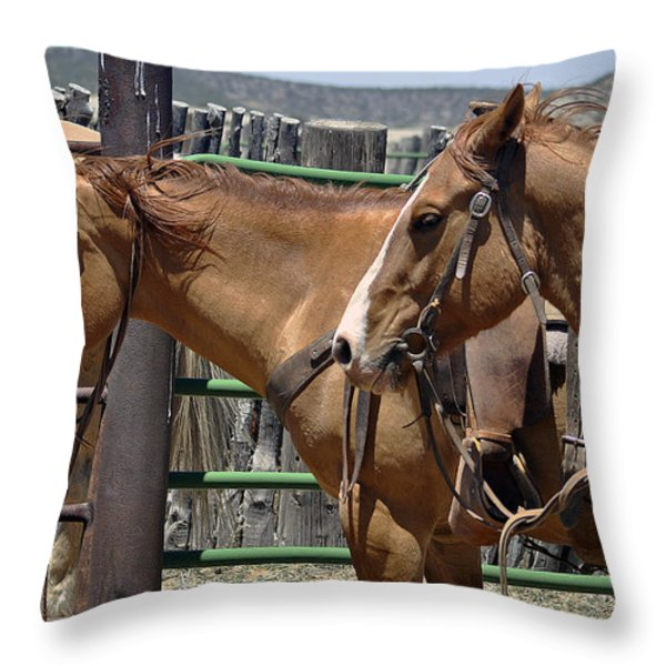 Waiting To Work Throw Pillow by Juls Adams