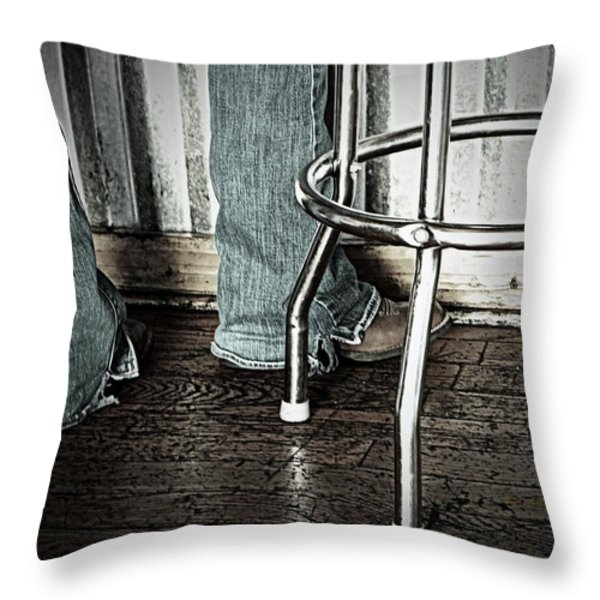 Waitress in Boots Throw Pillow by Chris Berry