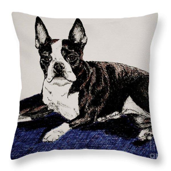 Wake Up Throw Pillow by Susan Herber