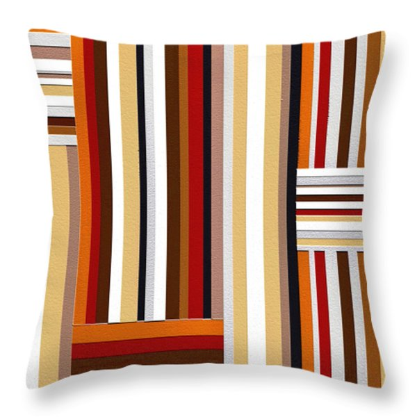 Walk Throw Pillow by Ely Arsha