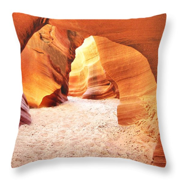 Walk In Beauty Throw Pillow by Christine Till