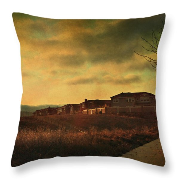 Walking Alone Throw Pillow by Laurie Search