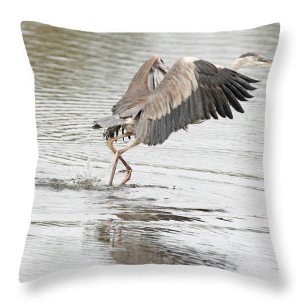 Walking On Water Throw Pillow by Deborah Benoit