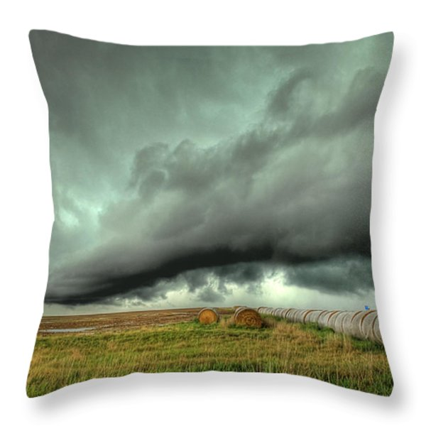 Wall Cloud Throw Pillow by Thomas Zimmerman